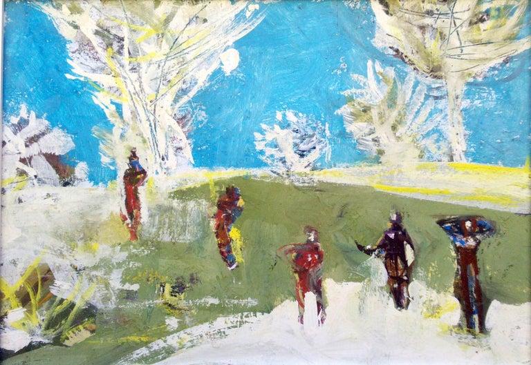 Figures in a landscape - Mixed Media Art by Erik Scholz