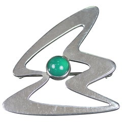 Erik Svane 1959, Swedish Sterling Silver Modernist Brooch