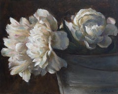 Contrast- 21st Century Contemporary Still-life Flower painting