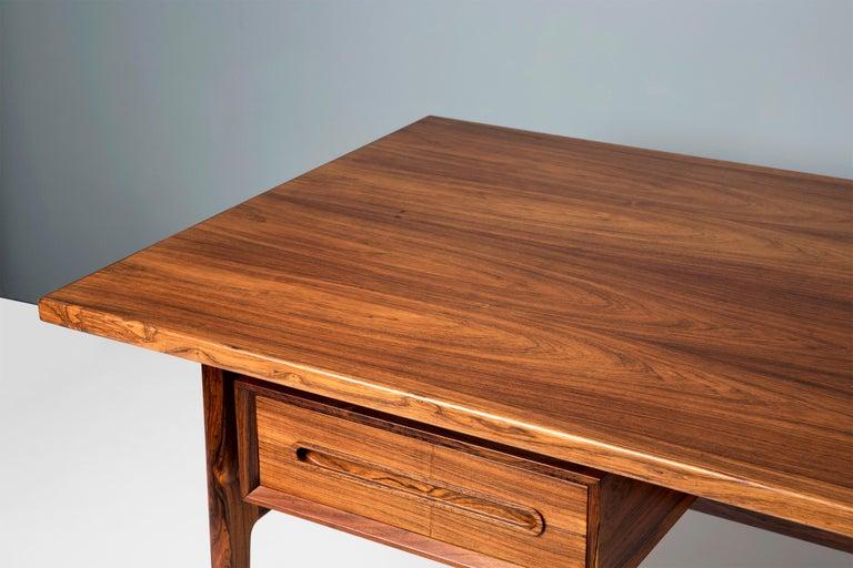 Erik Worts Danish Rosewood Desk, circa 1960s For Sale 5