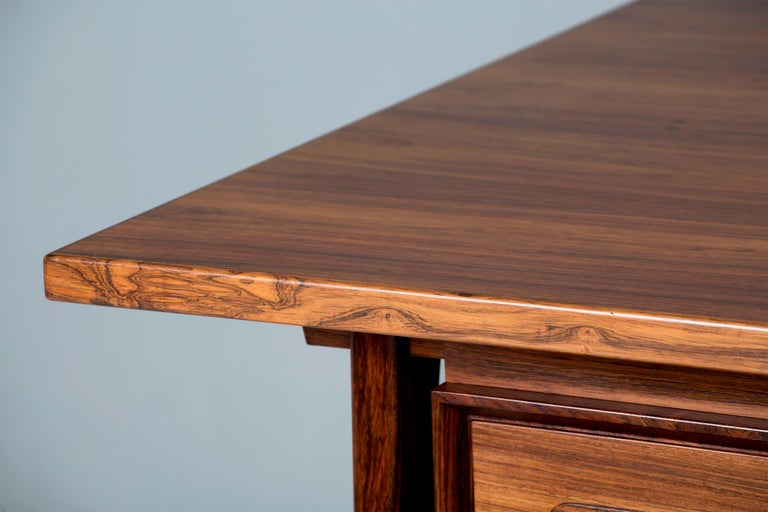 Erik Worts Danish Rosewood Desk, circa 1960s In Excellent Condition For Sale In London, GB