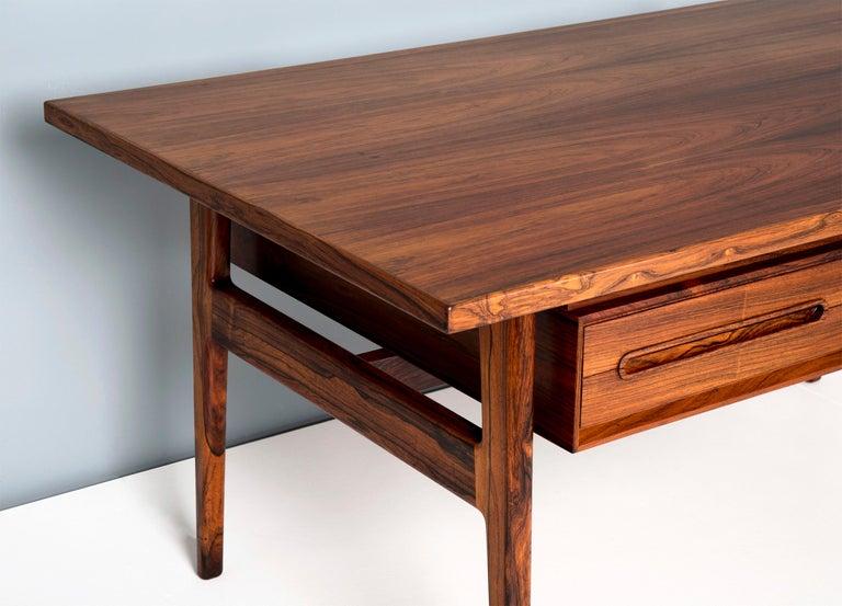 Mid-20th Century Erik Worts Danish Rosewood Desk, circa 1960s For Sale