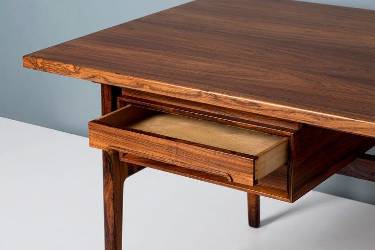 Erik Worts Danish Rosewood Desk, circa 1960s For Sale 2