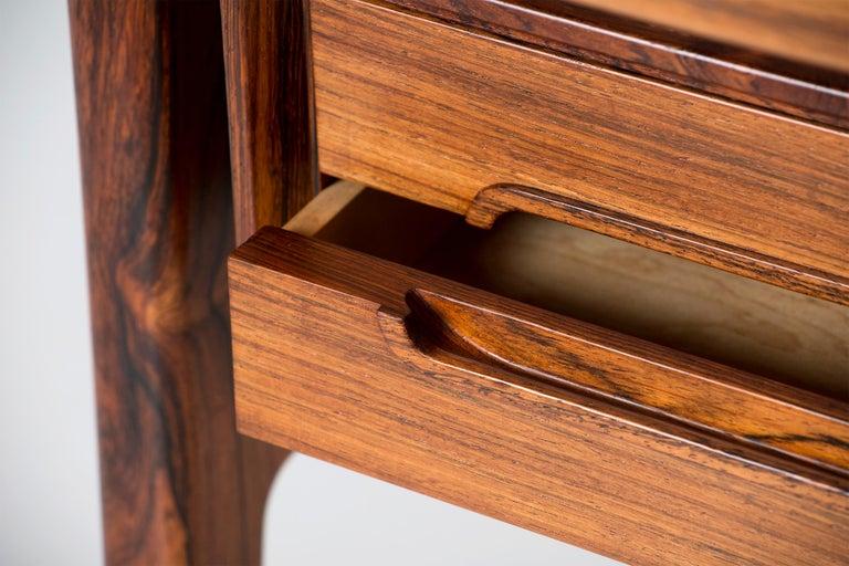 Erik Worts Danish Rosewood Desk, circa 1960s For Sale 4