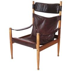 Erik Worts Leather High Back Safari Chair