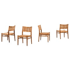 Erik Wørts Dining Chairs Produced in Denmark