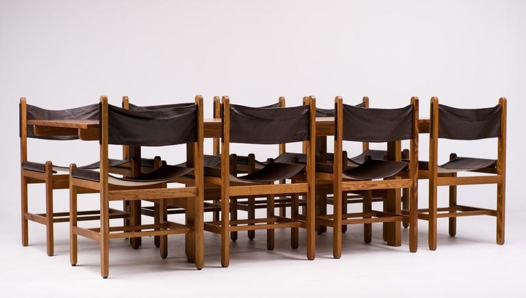 Erik Wørts Set of Eight Chairs and Dining Table For Sale 3