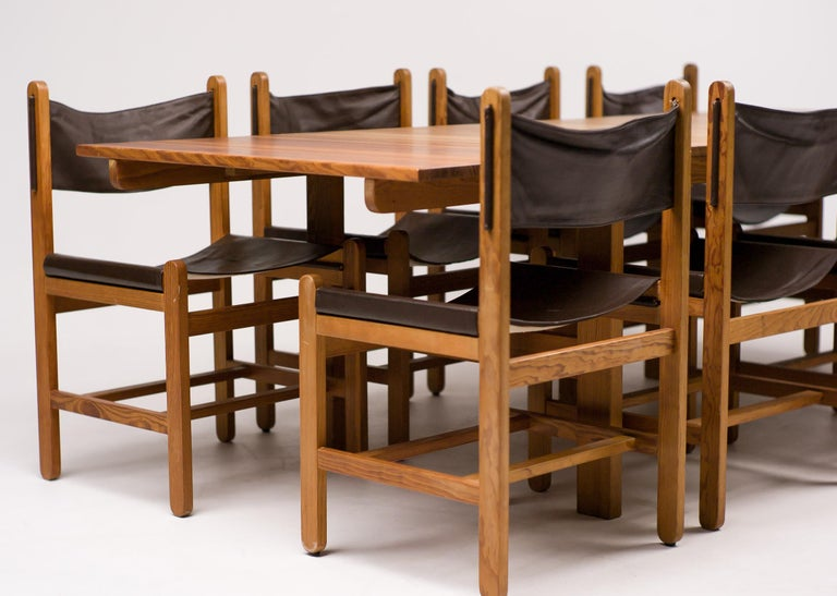 Erik Wørts Set of Eight Chairs and Dining Table For Sale 5
