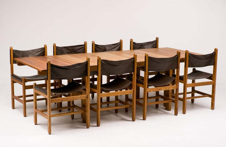 Late 20th Century Erik Wørts Set of Eight Chairs and Dining Table For Sale