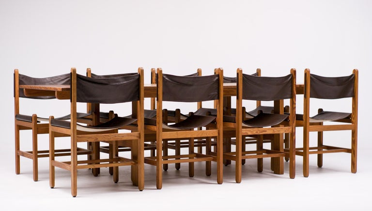 Erik Wørts Set of Eight Chairs and Dining Table For Sale 1