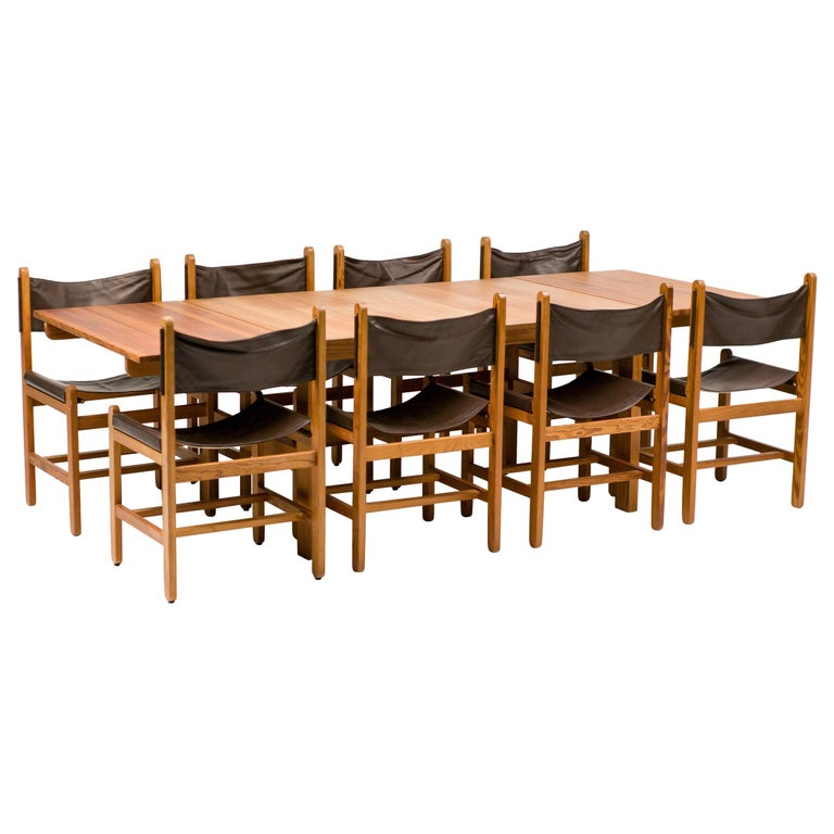 Erik Wørts Set of Eight Chairs and Dining Table For Sale