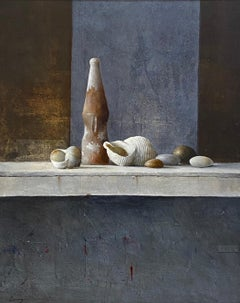 Found objects - 21st Century Contemporary Still-life painting with Shells