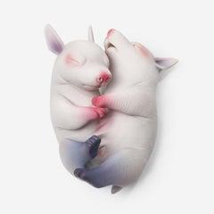 "Erika Sanada ""Togetherness"" (2017), cold finish ceramic sculpture"