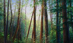 Bambi - forest nature landscape oil painting contemporary 21st C modern art