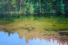 Day Dream Original lake landscape painting Contemporary Art 21st Century