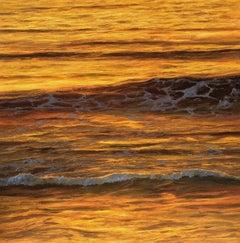 Golden Light - seascape painting Contemporary Impressionism-21st century