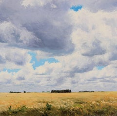 Graceful as Always - Original contemporary countryside oil painting modern