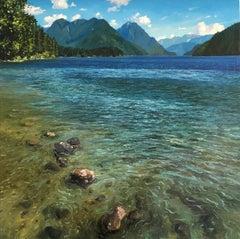 Lake Alouette - Original Lake landscape painting Contemporary-Art-Impressionism