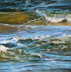 Sea Bird - original ocean landscape oil painting modern contemporary art 21st C