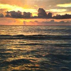 Sea Urchin - original seascape sky sunset oil painting modern contemporary art
