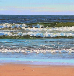 The Shores I - original seascape water oil painting modern contemporary art