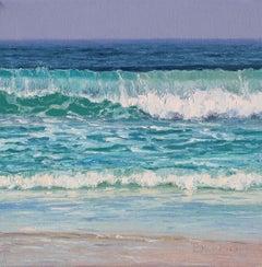 The Shores II - original seascape landscape painting contemporary art