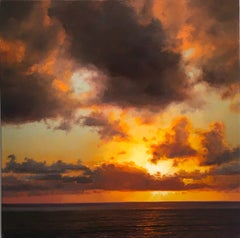 Through It - Seascape sun oil painting contemporary impressionism-modern art