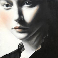 Glance by Erin Cone, acrylic on canvas, modern realism, contemporary portrait