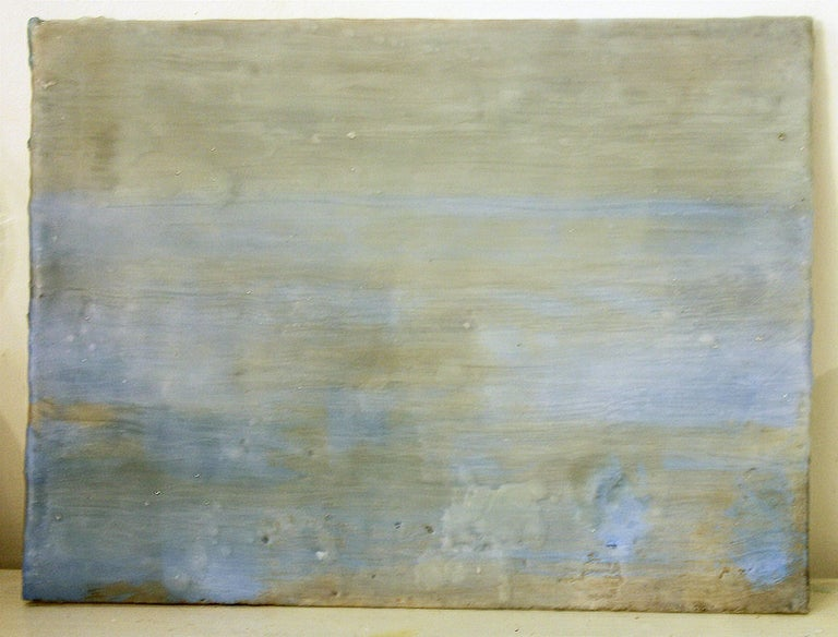 Foggy Lucid / Oil and encaustic on canvas