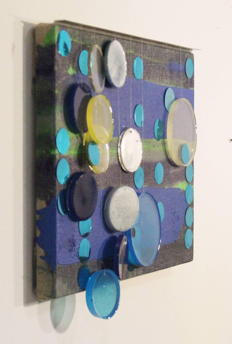 Memory's Tricks / mixed media oil and resin painting - Abstract Geometric Painting by Erin Parish