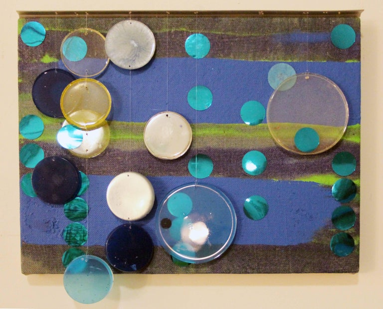 Erin Parish Abstract Painting - Memory's Tricks / mixed media oil and resin painting