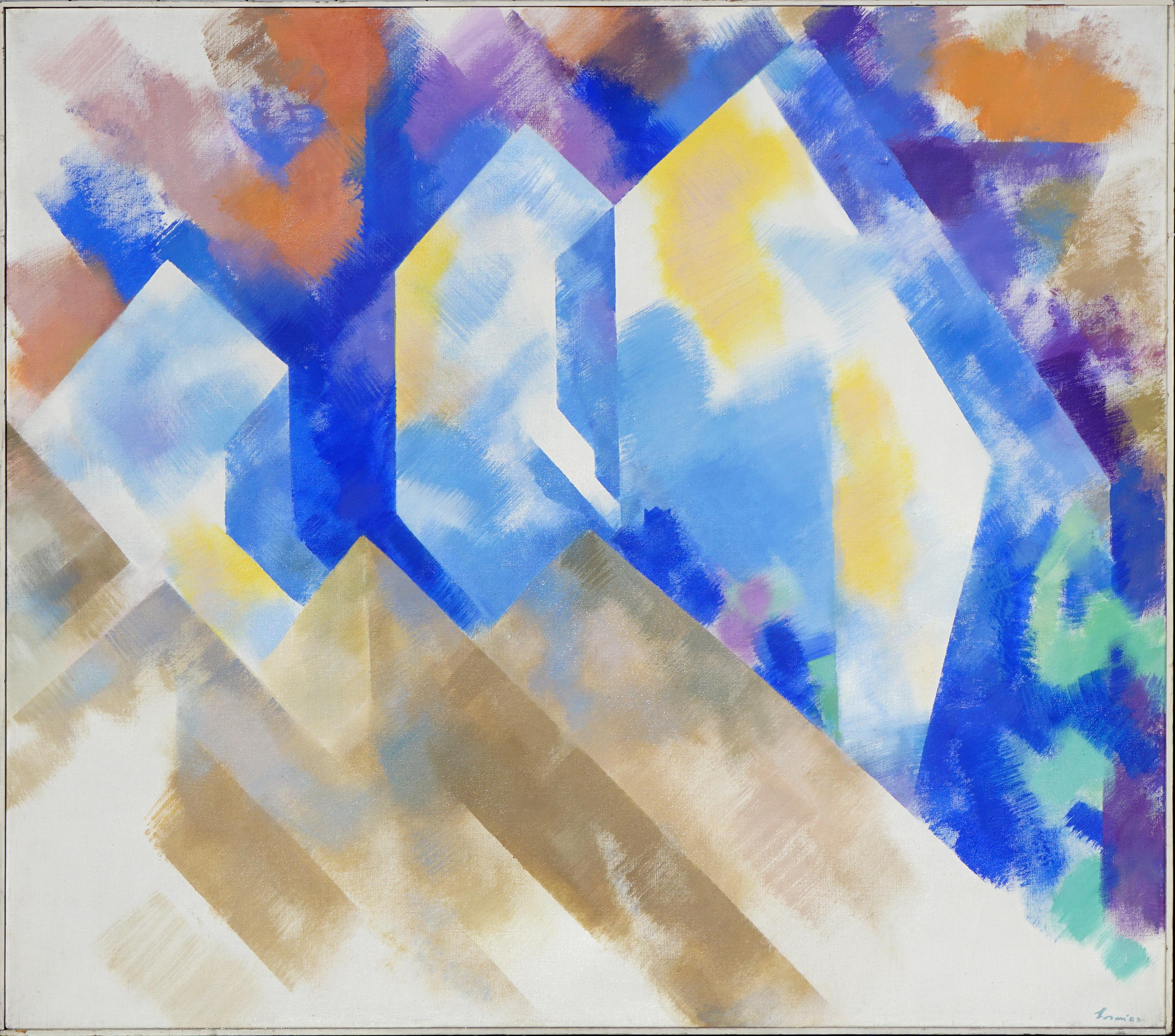 """""""Cliff's Formation"""" - Modernist Geometric Abstracted Landscape"""