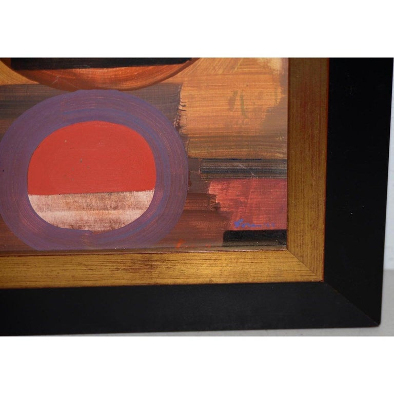 Erle Loran Mid Century Abstract Painting c.1964 For Sale 1