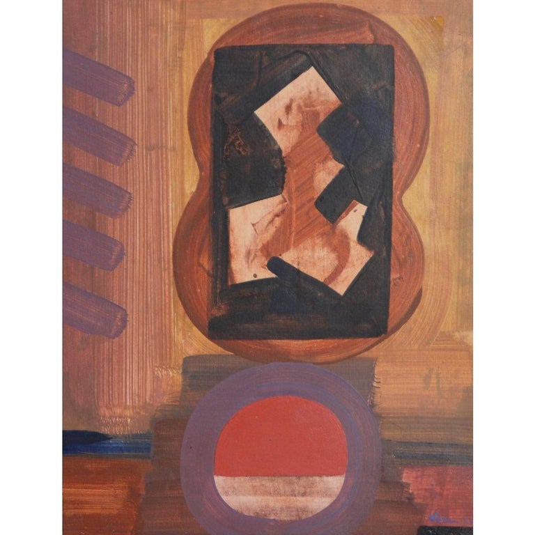 Erle Loran Mid Century Abstract Painting c.1964 For Sale 5