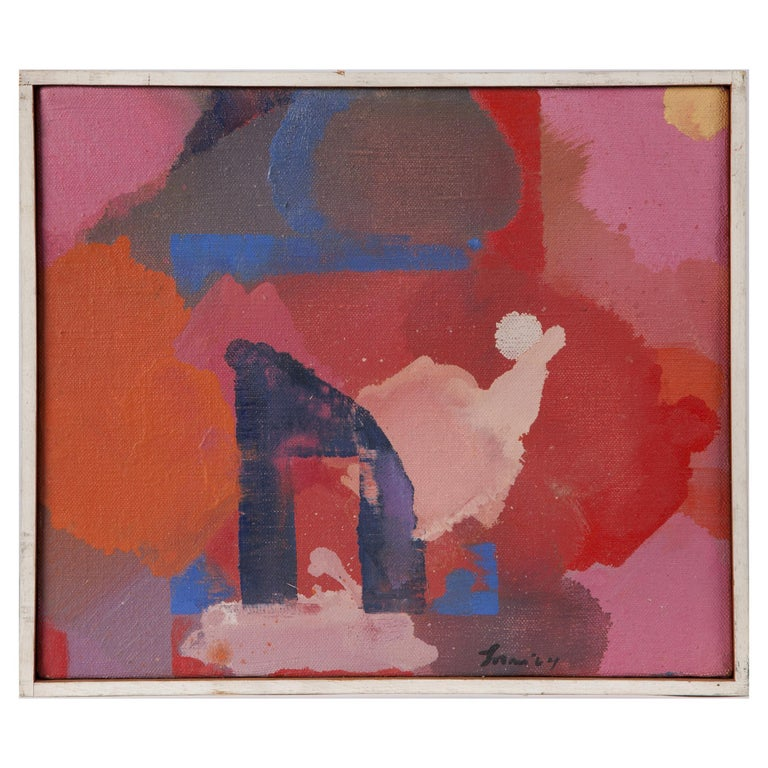Erle Loran 'The Gate' Abstract Oil Painting 1