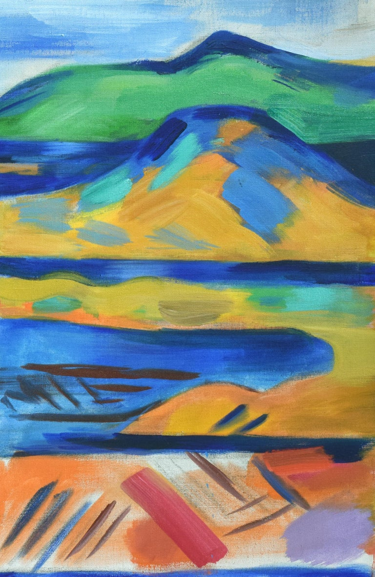 Oakland to Tamalpais Views - Fauvist Abstracted Landscape - Abstract Expressionist Painting by Erle Loran
