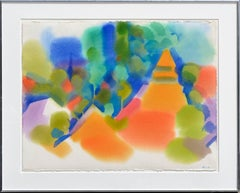 Peaks Near Malakoff Diggins 1 Abstracted Landscape Watercolor