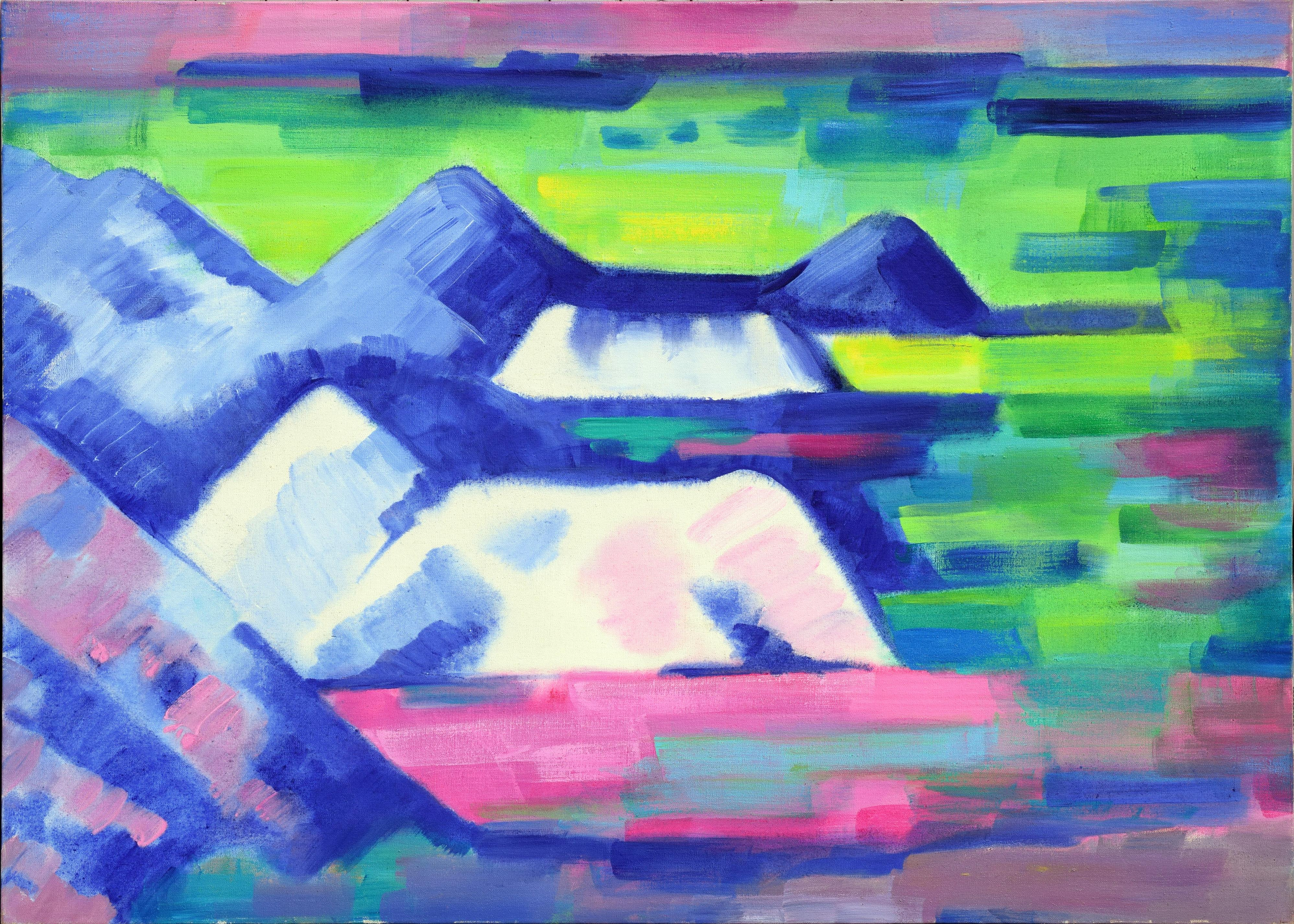 Spring Mountain View, Painted Desert Oregon Abstracted Landscape