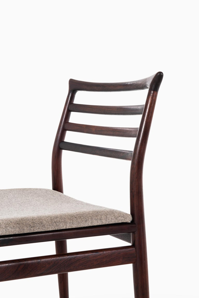 Danish Erling Torvits Dining Chairs Produced by Sorø Stolefabrik in Denmark For Sale