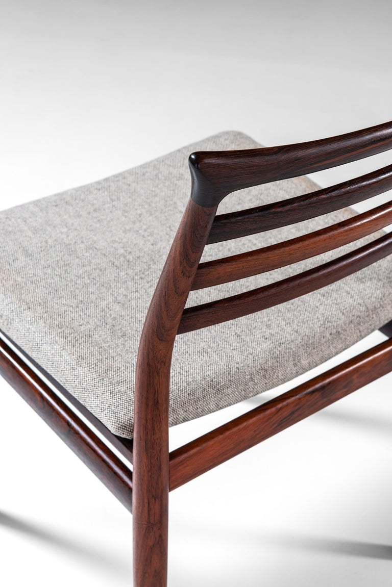 Mid-20th Century Erling Torvits Dining Chairs Produced by Sorø Stolefabrik in Denmark For Sale