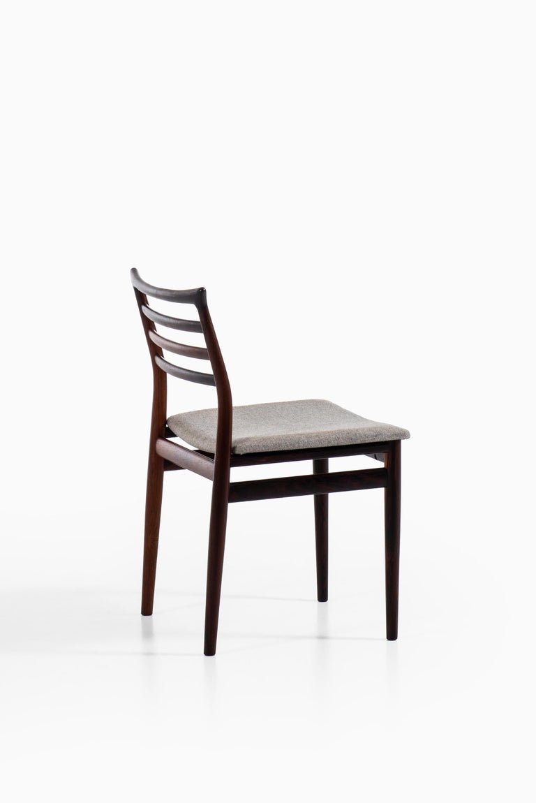 Fabric Erling Torvits Dining Chairs Produced by Sorø Stolefabrik in Denmark For Sale