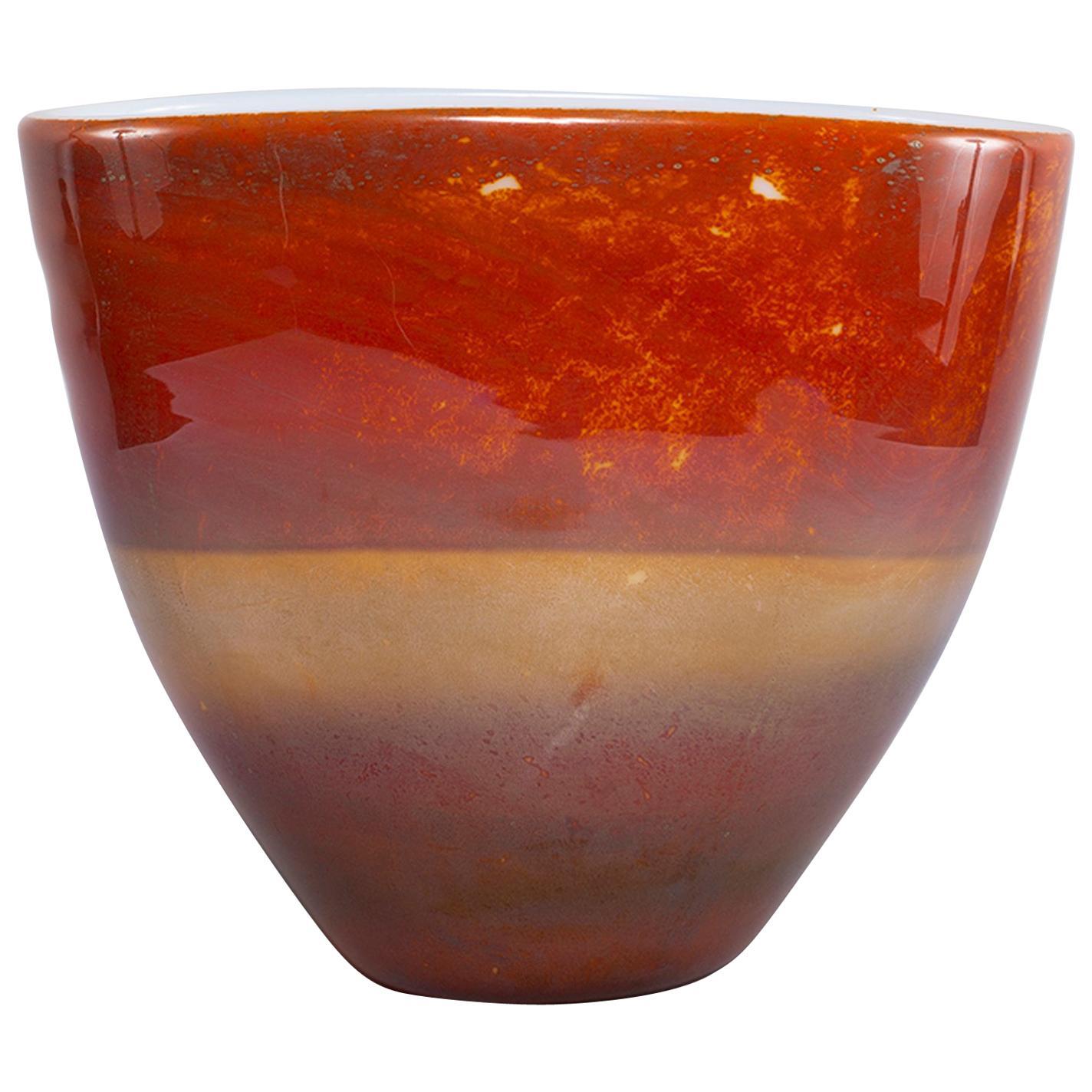 Ermanno Nason for Antonio da Ros Opaline Murano Glass Bowl