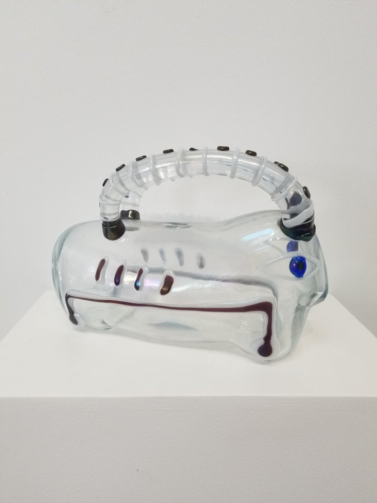 Offered for sale is a rare and important Murano glass sculpture by Ermanno Nason, titled