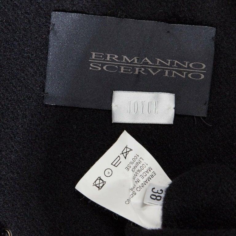 ERMANNO SCERVINO 100% cashmere black velvet corset lace waist cropped jacket XS For Sale 5