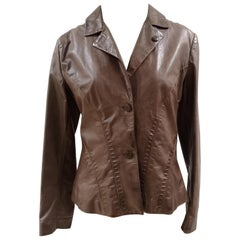 Ermanno Scervino Brown leather jacket