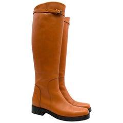 Ermanno Scervino Brown Stivaletto Leather Riding Boots 37.5