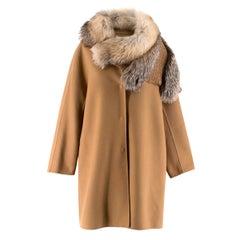 Ermanno Scervino Double-faced Fur Trimmed Coat IT 38 / US 0-2