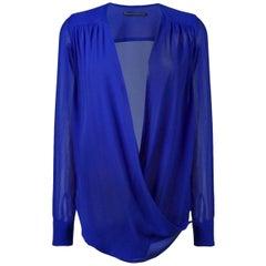 Ermanno Scervino Draped Silk Shirt
