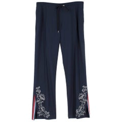 Ermanno Scervino Floral Embroidered Straight Trousers Size 38