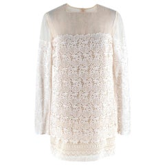 Ermanno Scervino Ivory Lace Dress US2